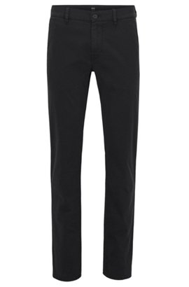 Slim-fit stretch-cotton trousers with micro logo print HUGO BOSS Cheap Sale Discount Ebay Cheap Price Largest Supplier Cheap Price xoCgeXYfu