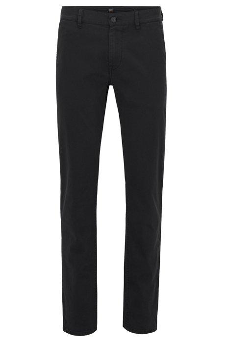 5d260b802549f BOSS - Chino casual Slim Fit en coton stretch brossé