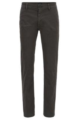 Slim-fit broek van stretchkatoen, Antraciet