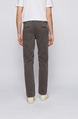 Hugo Boss Slim-fit chinos in micro-pattern stretch  cotton  RRP £109