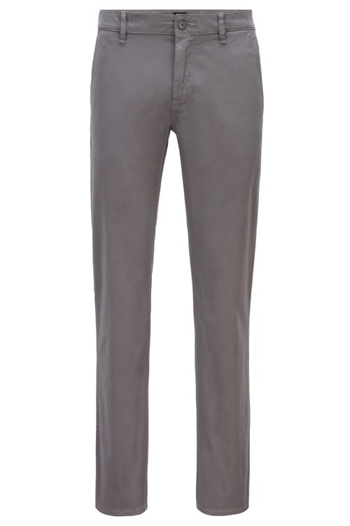 Hugo Boss - Slim-Fit Casual-Chino aus angerauter Stretch-Baumwolle - 1