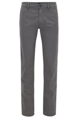Pantalon Slim Fit en coton stretch, Gris sombre