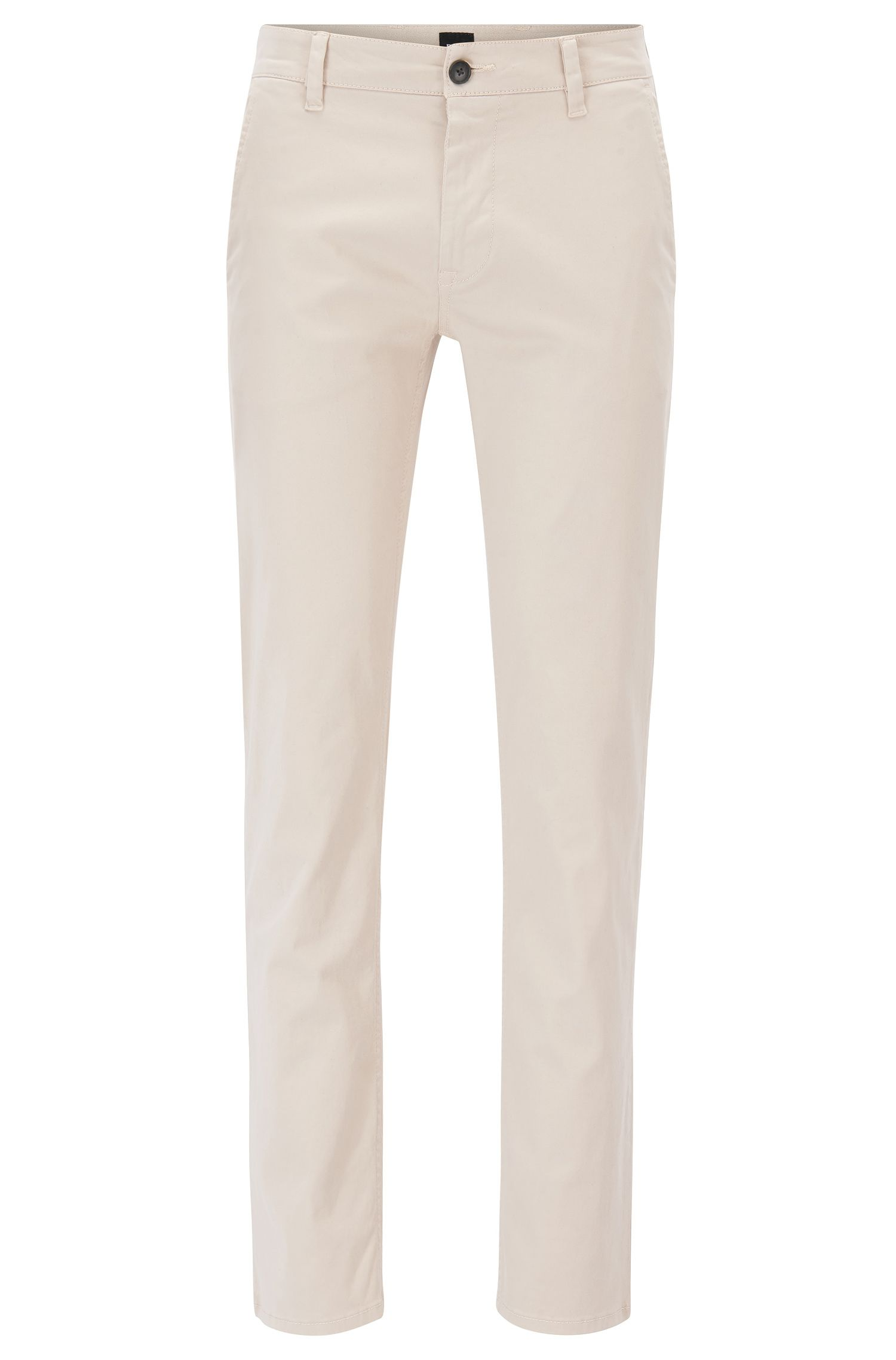 Slim-Fit Casual-Chino aus angerauter Stretch-Baumwolle