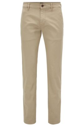 Slim-Fit Hose aus Stretch-Baumwolle, Beige