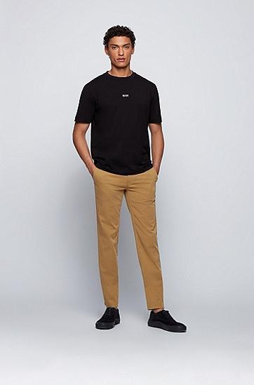 拉绒弹力棉修身休闲裤,  261_Medium Beige
