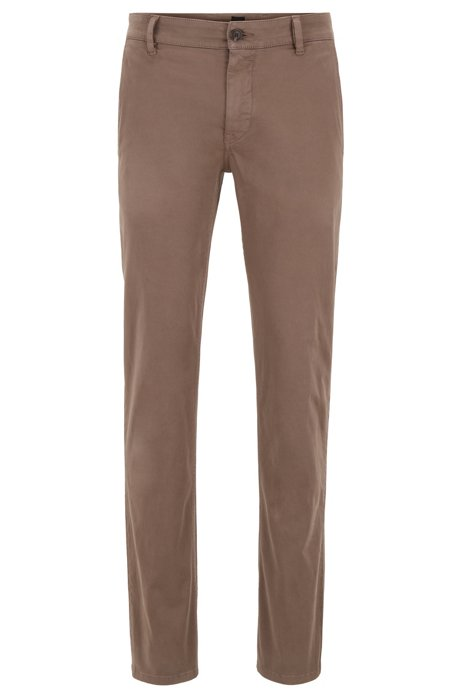 Coton En Slim Stretch Casual Fit Brossé Chino PiuXZk