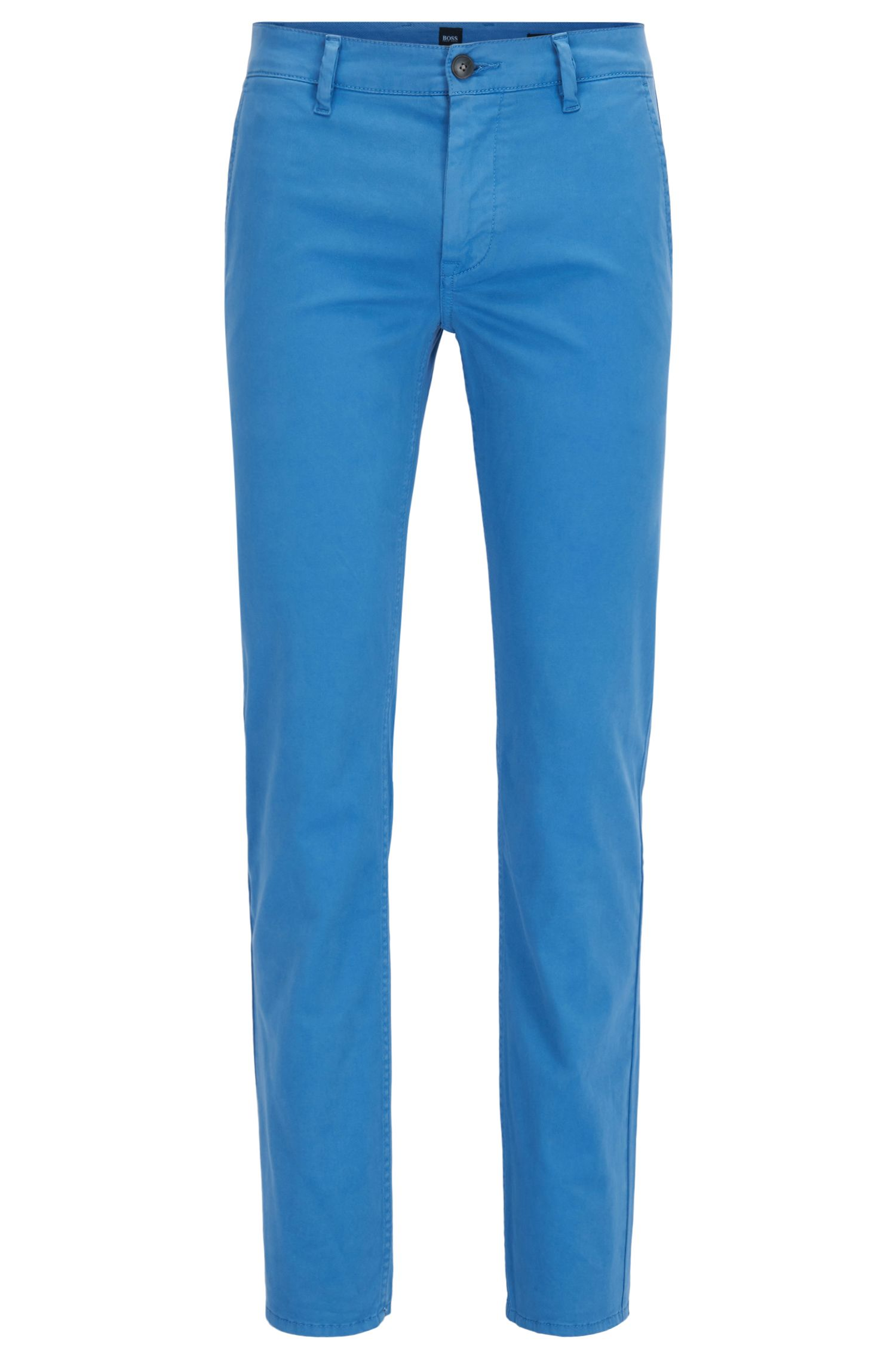 Chino casual Slim Fit en coton stretch brossé