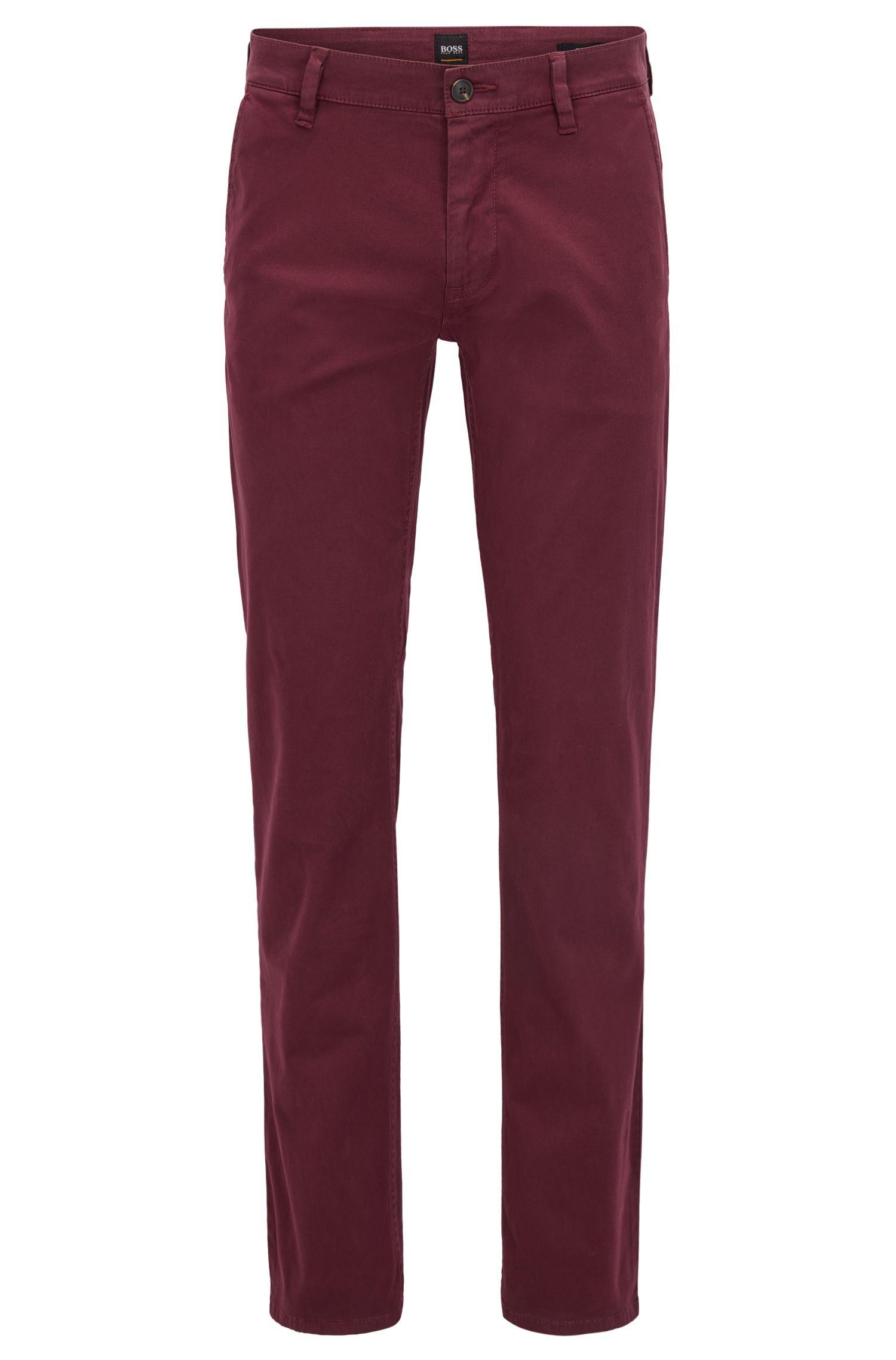 Chino casual Slim Fit en coton stretch brossé