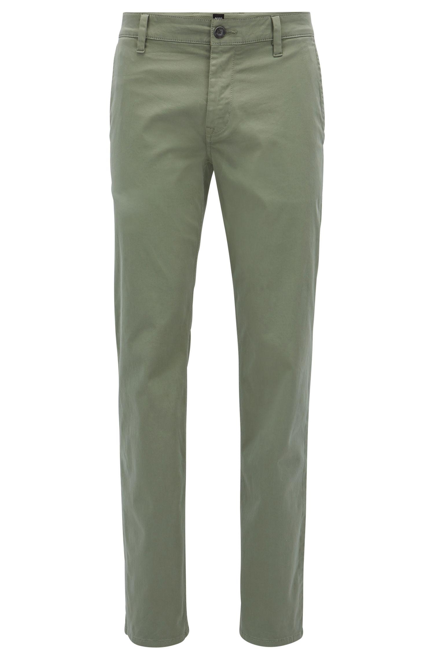 Regular-Fit Hose aus gebürsteter Stretch-Baumwolle