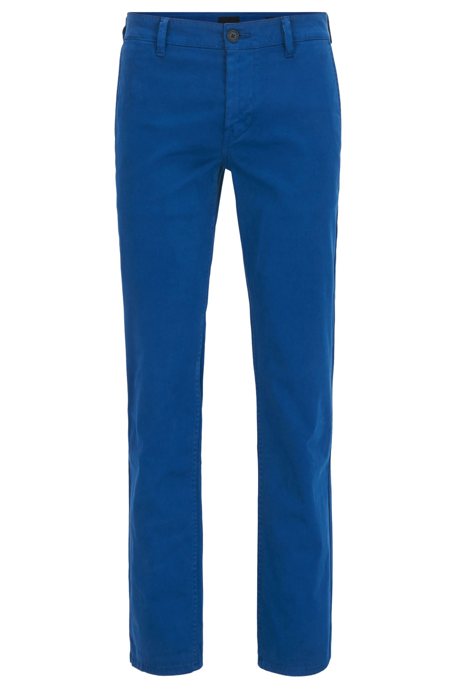 Pantalon Slim Fit en coton stretch gratté