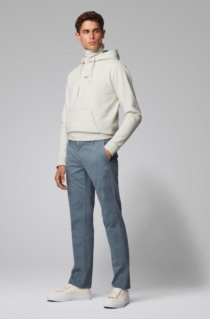 Regular-Fit Casual-Chino aus angerauter Stretch-Baumwolle