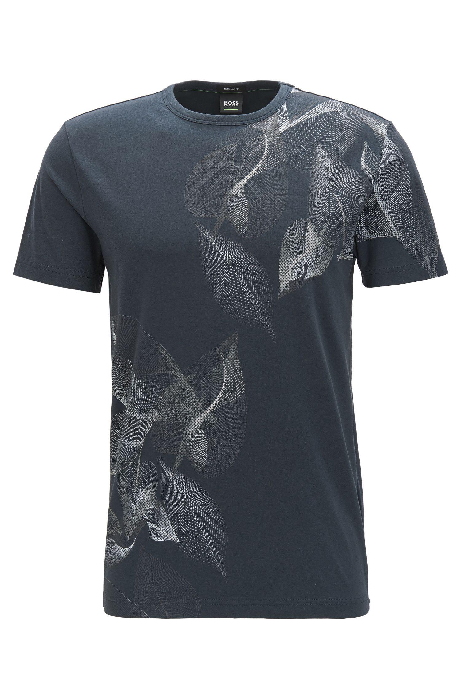 Bedrucktes Regular-Fit T-Shirt aus Stretch-Baumwolle