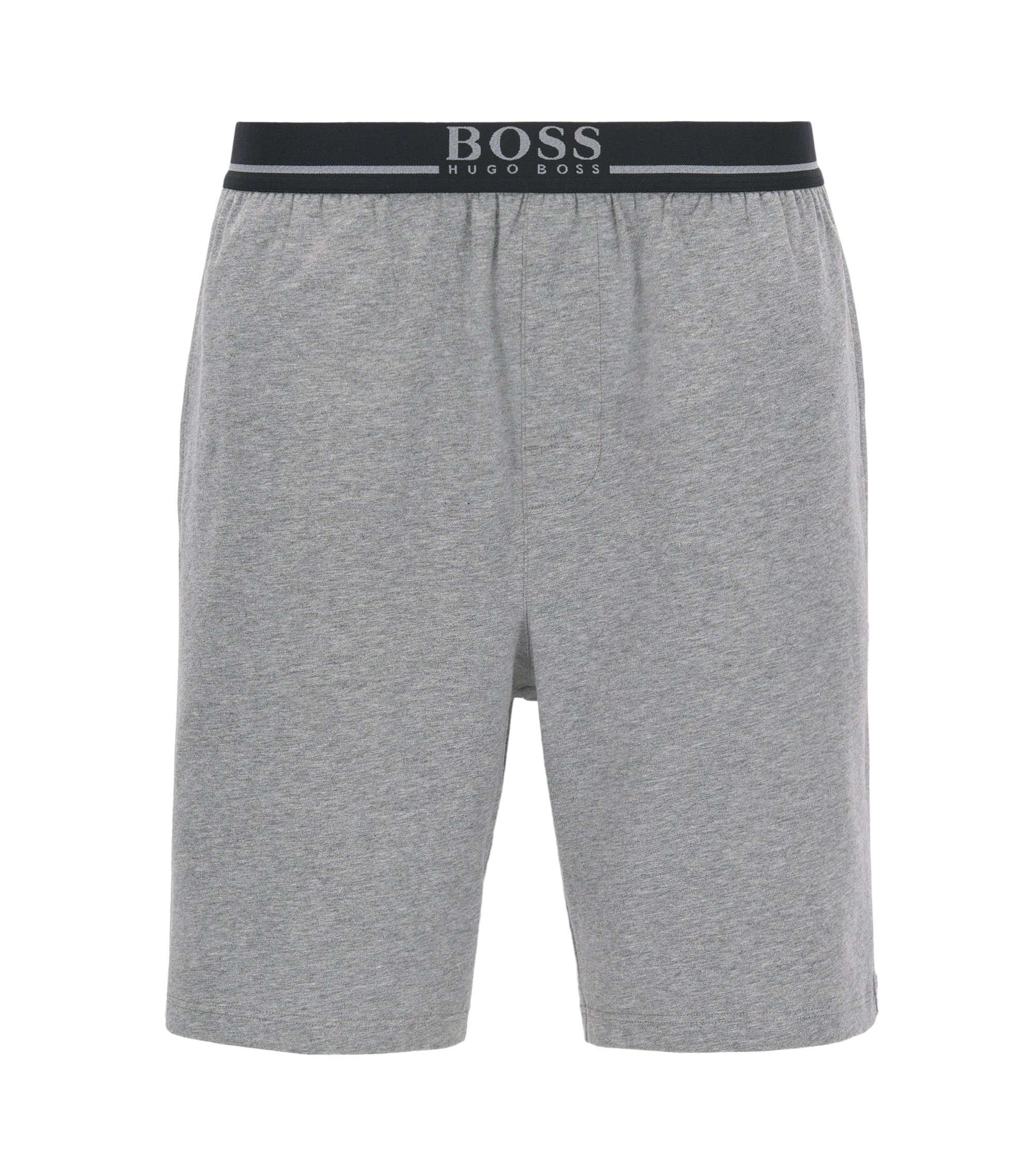 Loungewear-Shorts aus Single Jersey, Grau