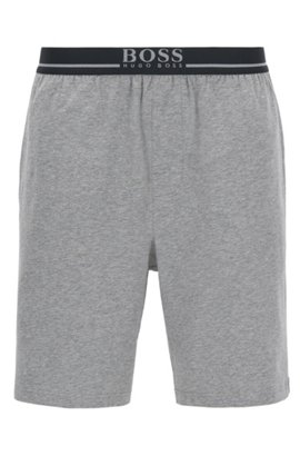 Fast Delivery Sale Online Top Quality Cheap Online Loungewear shorts in stretch cotton with contrast piping BOSS OX26D