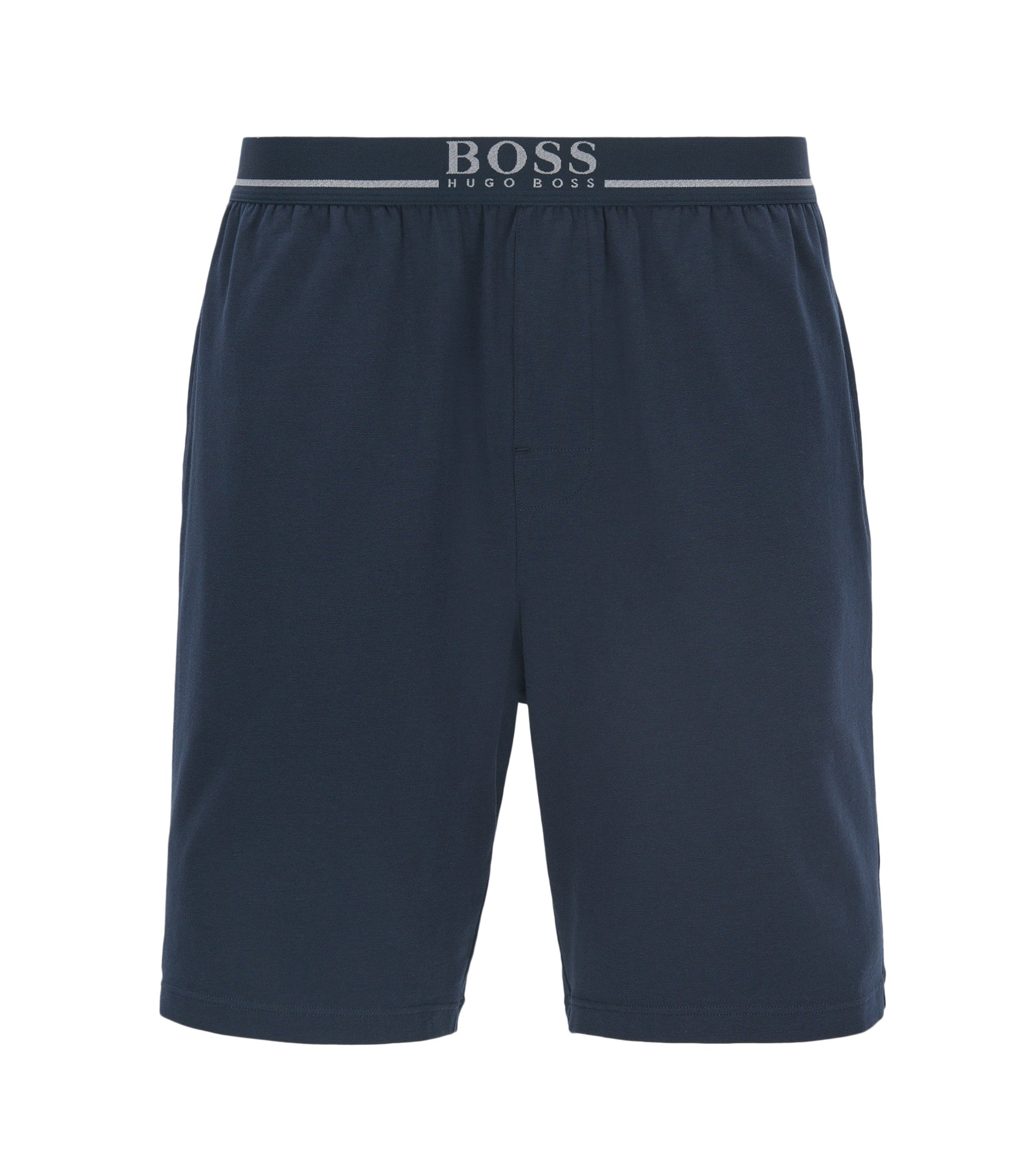 Loungewear-Shorts aus Single Jersey, Dunkelblau