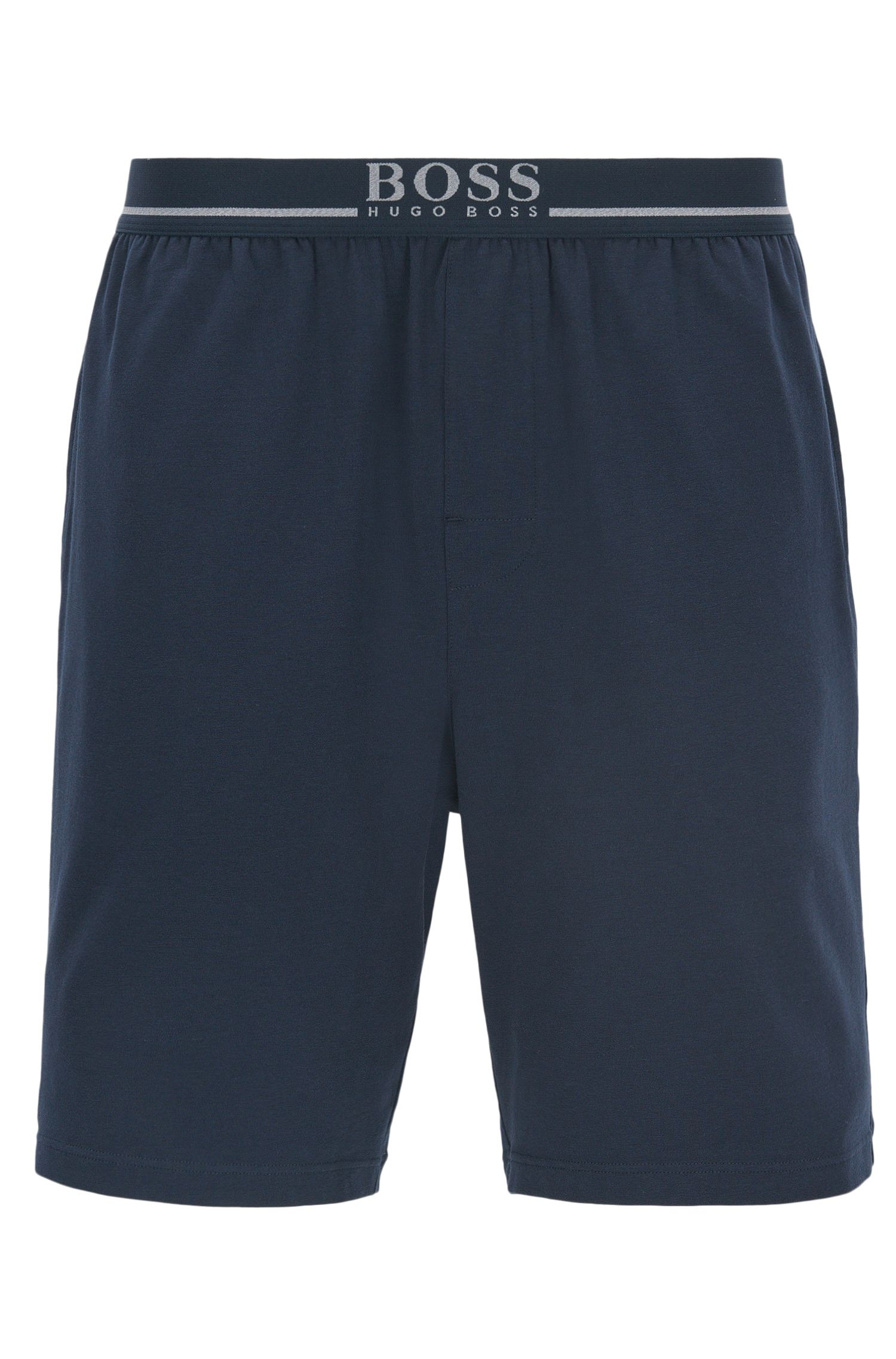 Loungewear shorts in stretch cotton