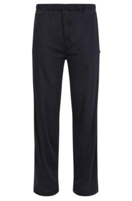 Pantaloni del pigiama in jersey di misto cotone e modal, Blu scuro