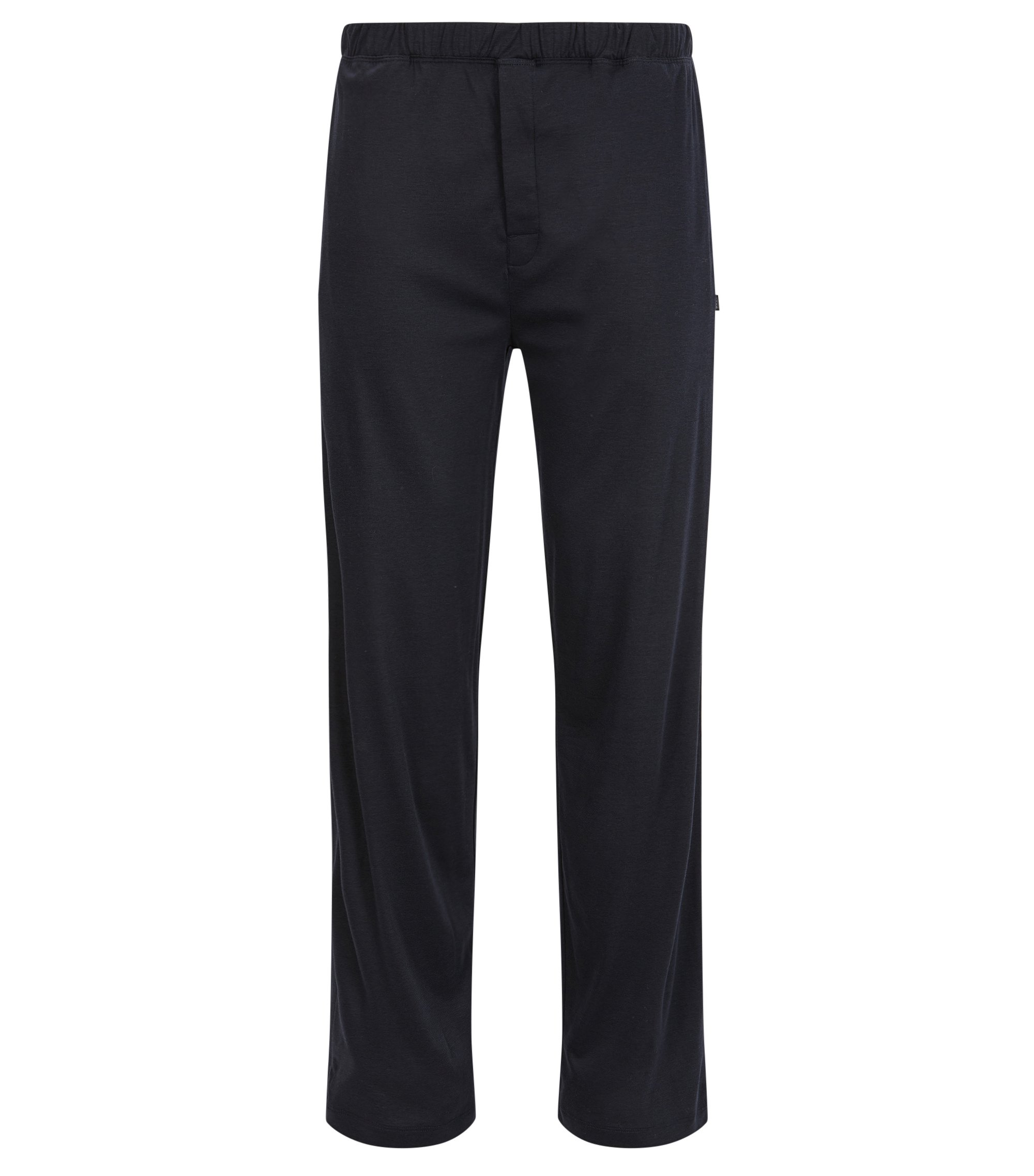 Pyjama bottoms in cotton-modal single jersey, Dark Blue