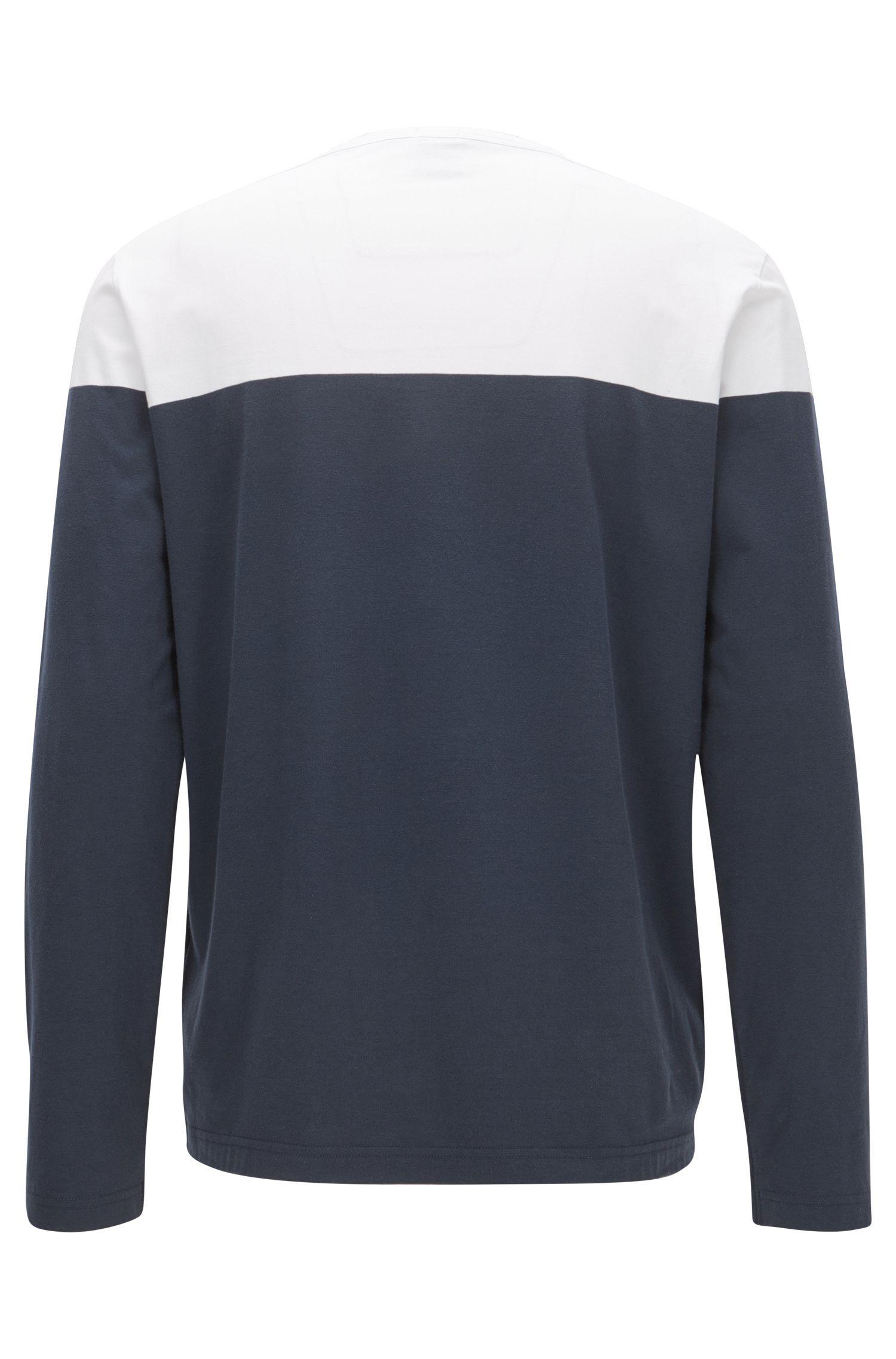 Pullover aus elastischer Baumwolle im Colour Block Design mit Logo