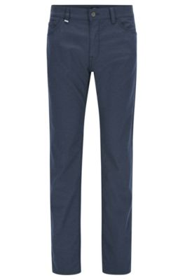Jeans regular fit in denim italiano mélange, Blu scuro