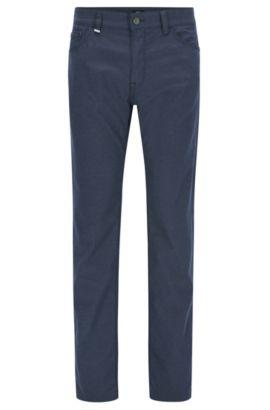 Regular-Fit Jeans aus meliertem italienischem Denim, Dunkelblau