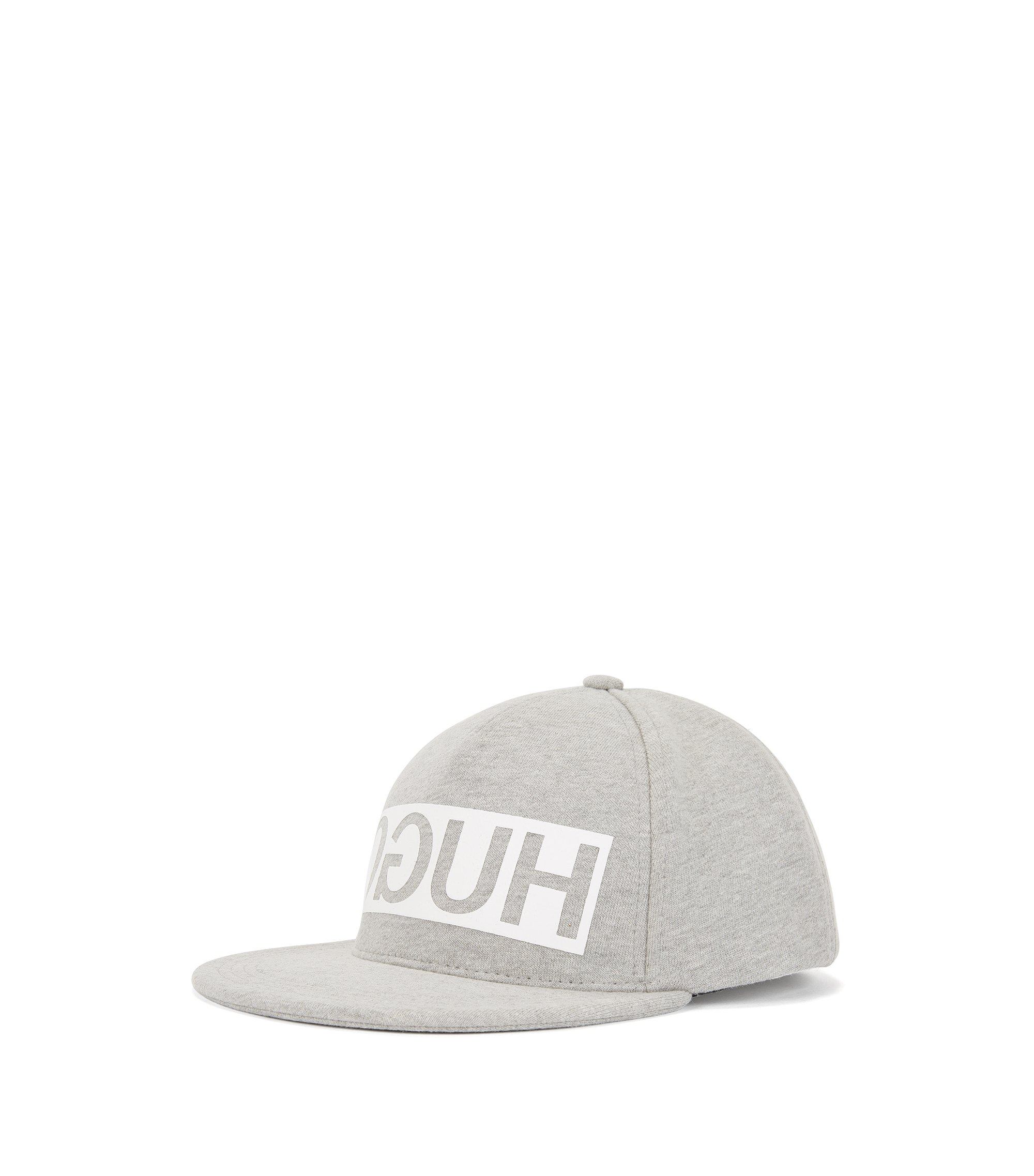 Reverse-logo baseball cap in French terry, Grey