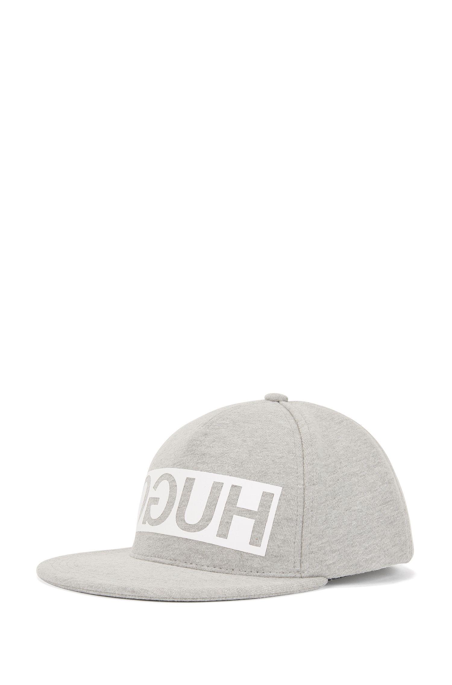 Reverse-logo baseball cap in French terry