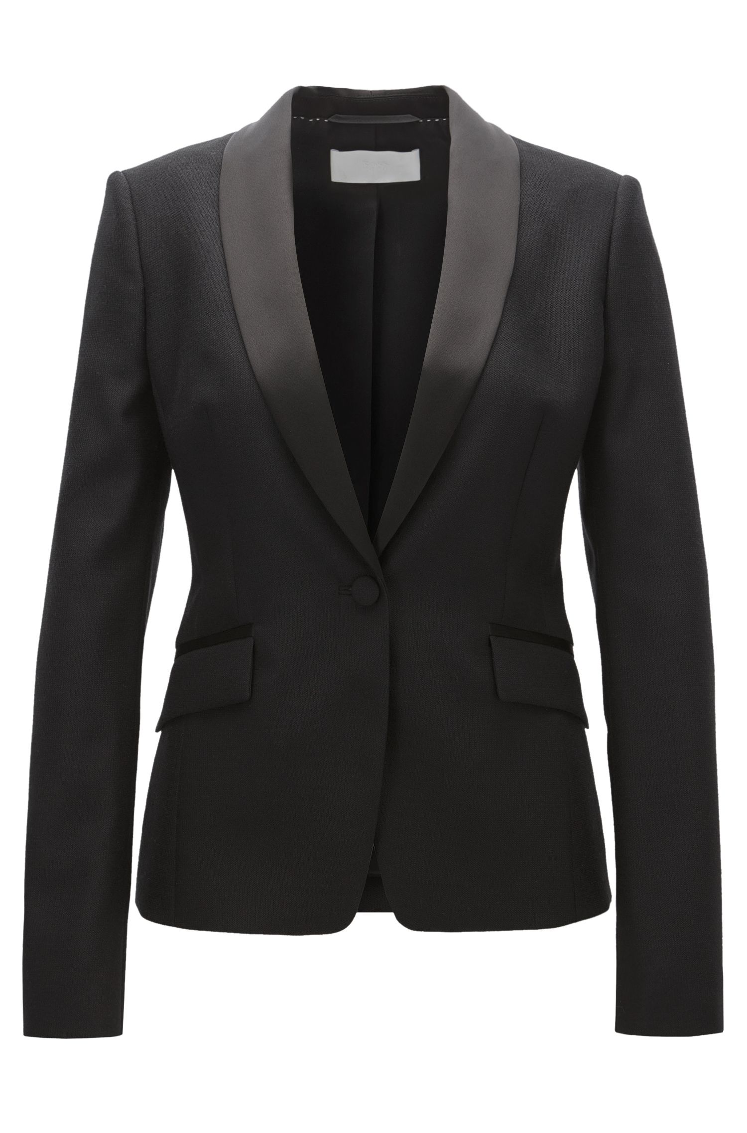 Regular-Fit Smoking-Blazer aus Schurwolle