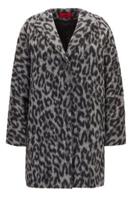 Manteau Oversize Fit à imprimé guépard bicolore, Fantaisie