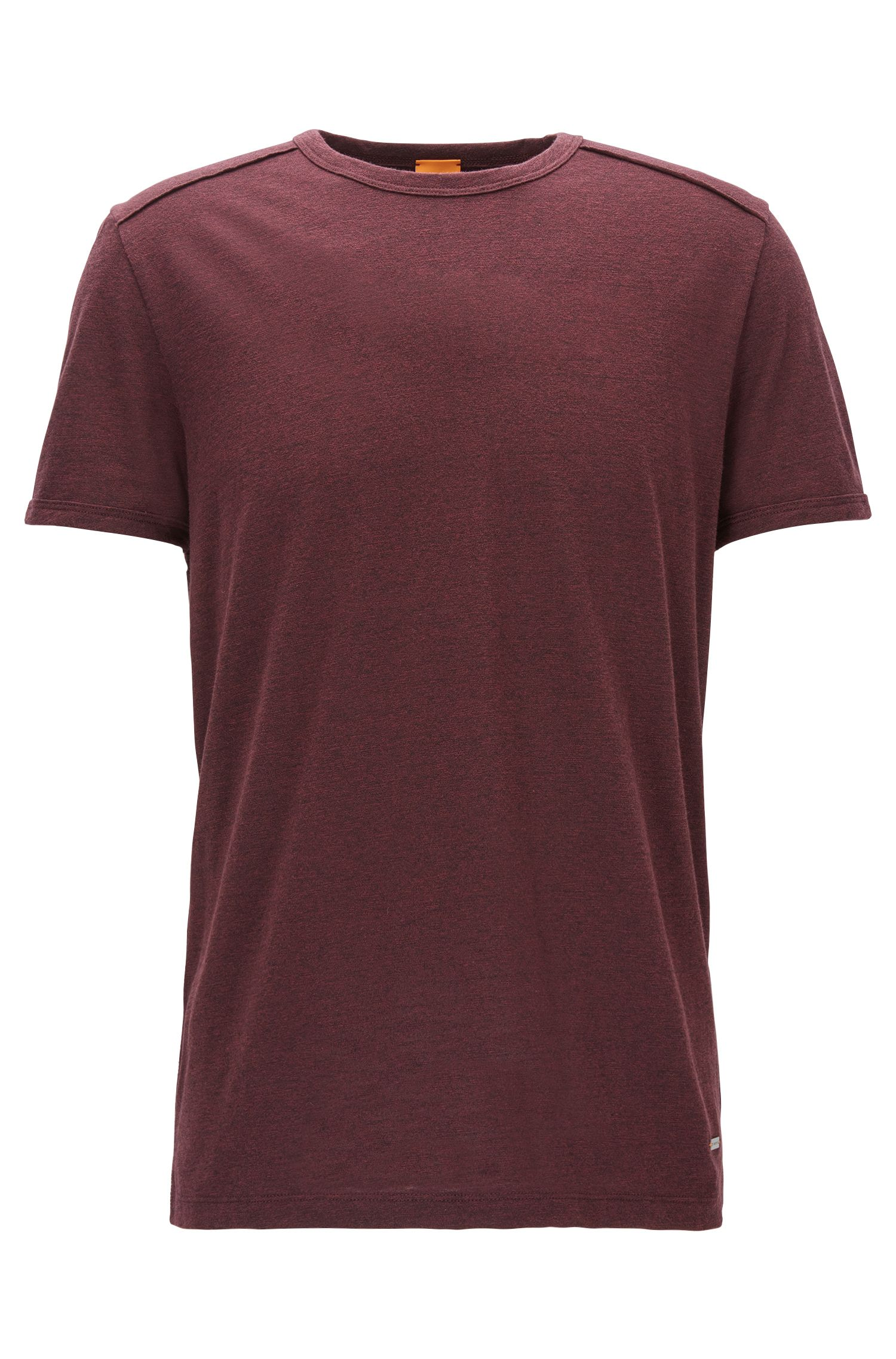 Meliertes Relaxed-Fit T-Shirt aus Baumwoll-Mix mit Modal
