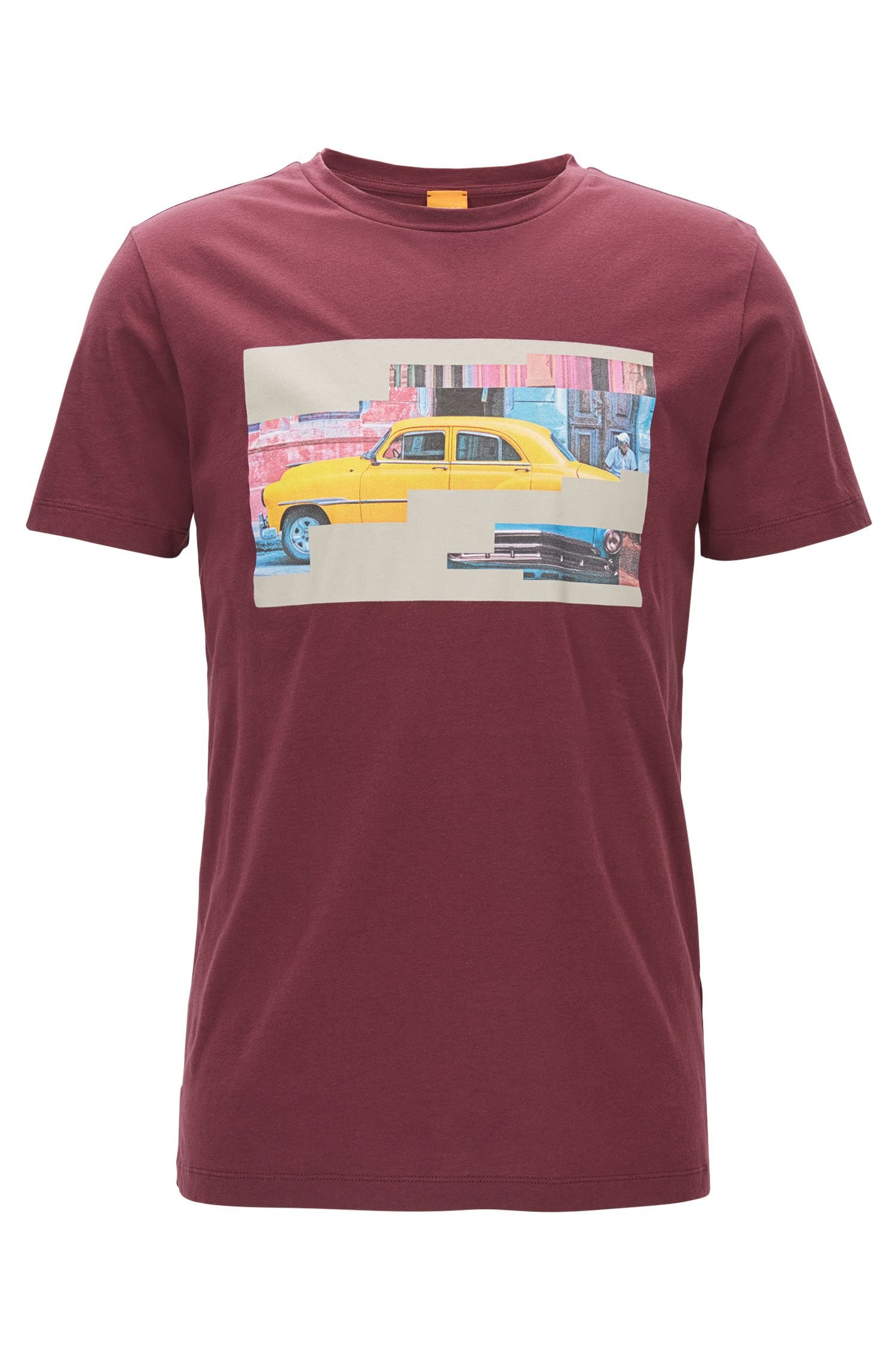 Regular-fit cotton T-shirt with Cuba motif