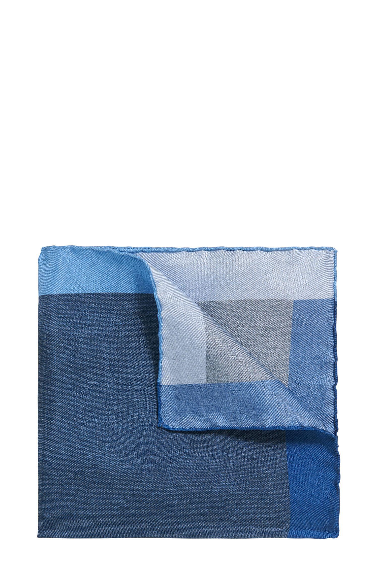 Pochette carrée imprimée en soie