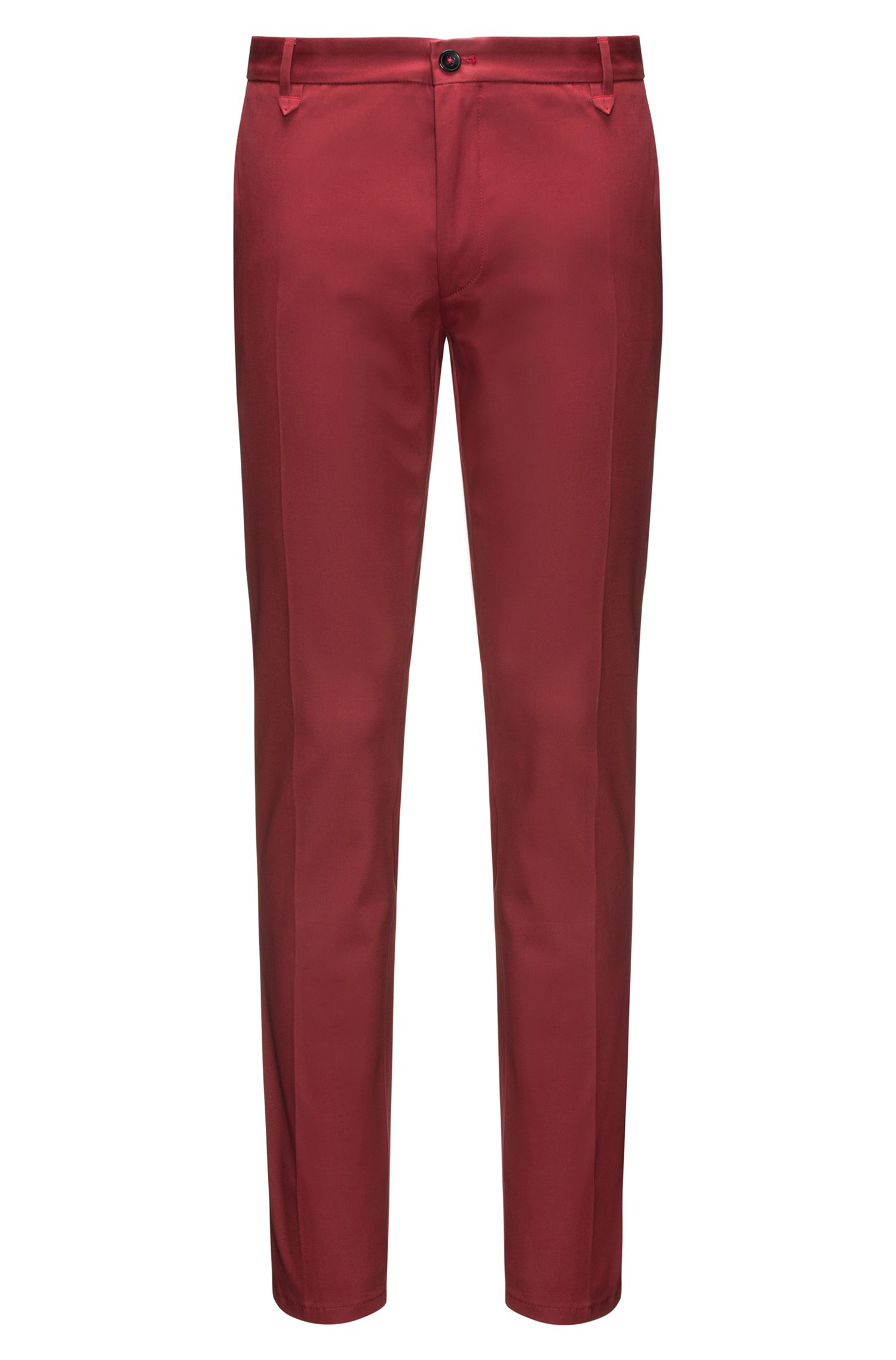 Extra-slim-fit trousers in stretch gabardine