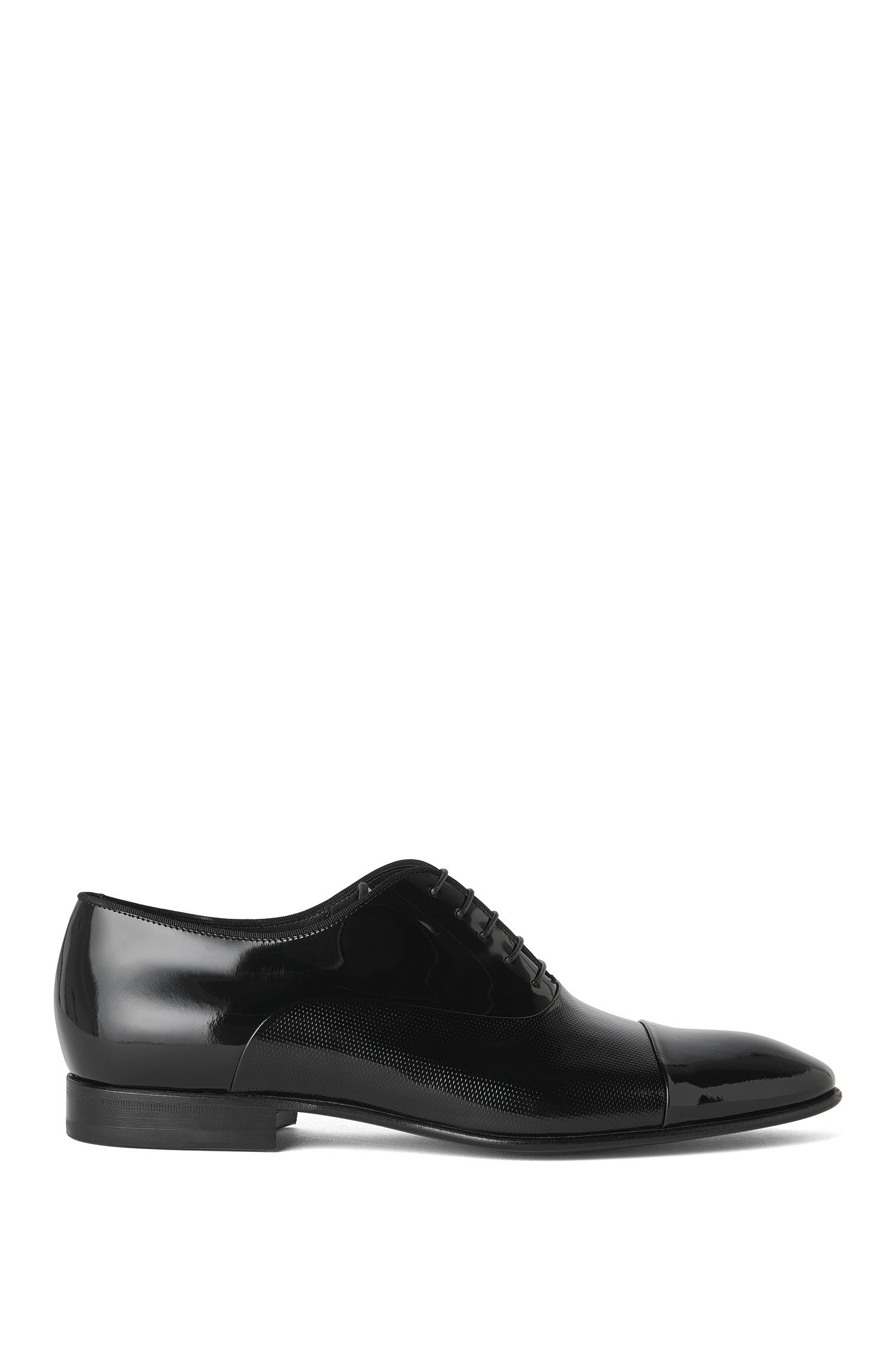 Scarpe Oxford in pelli miste