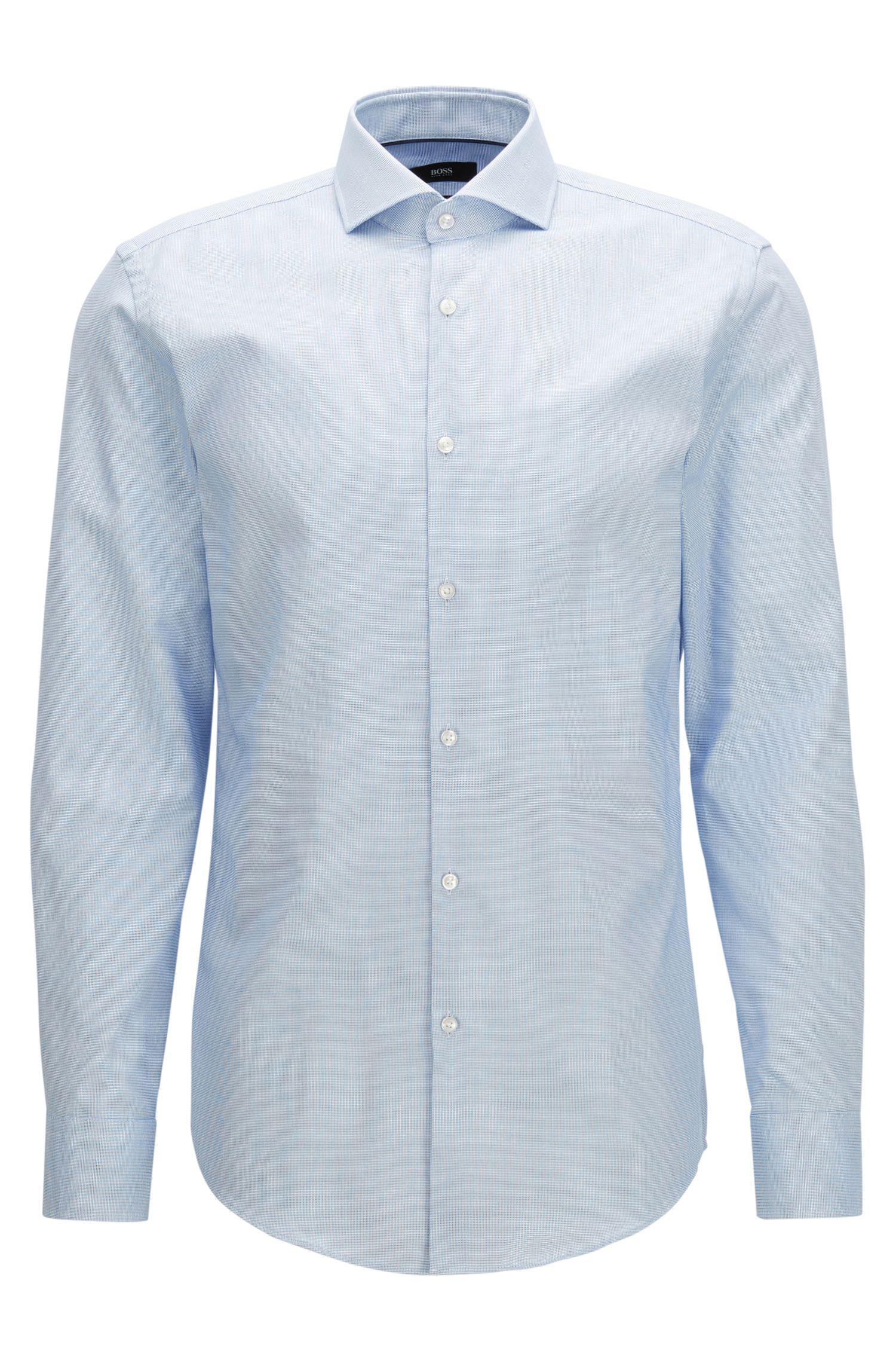 Camicia slim fit in cotone con finitura Fresh Active