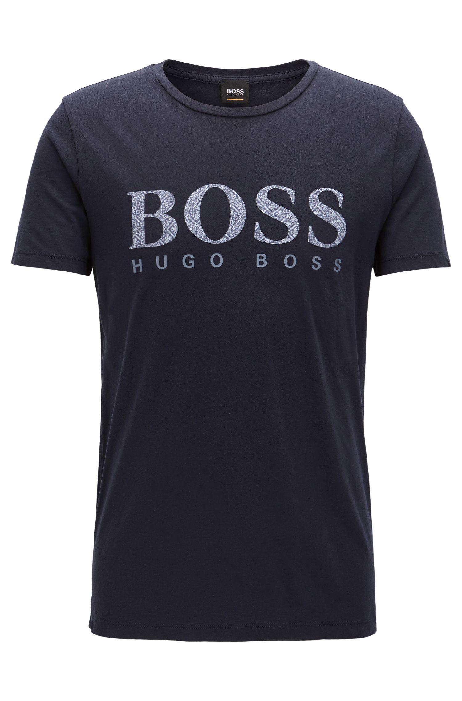 Slim-fit T-shirt van katoen met logo