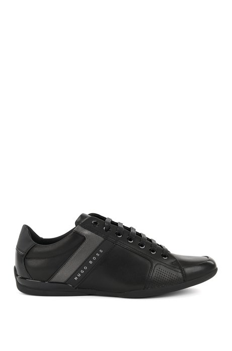 Low-top trainers in nappa leather BOSS 100% Original Cheap Price For Sale Wholesale Price For Sale Cheap Price A7OUVqpi8M