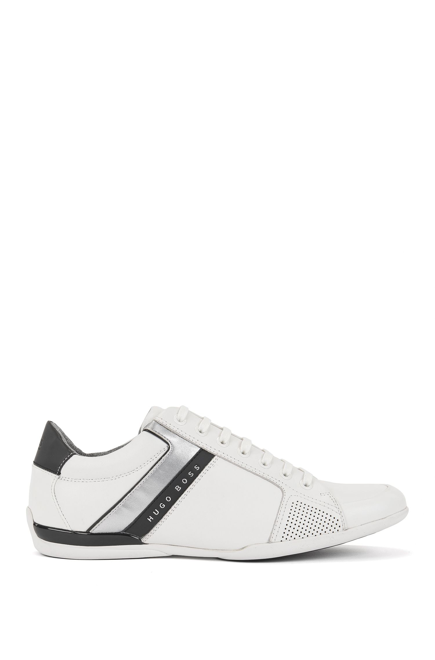 Sneakers low-top in pelle nappa