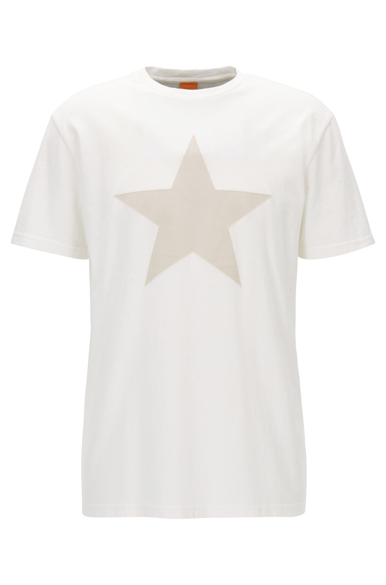 Relaxed-fit cotton T-shirt with applied star