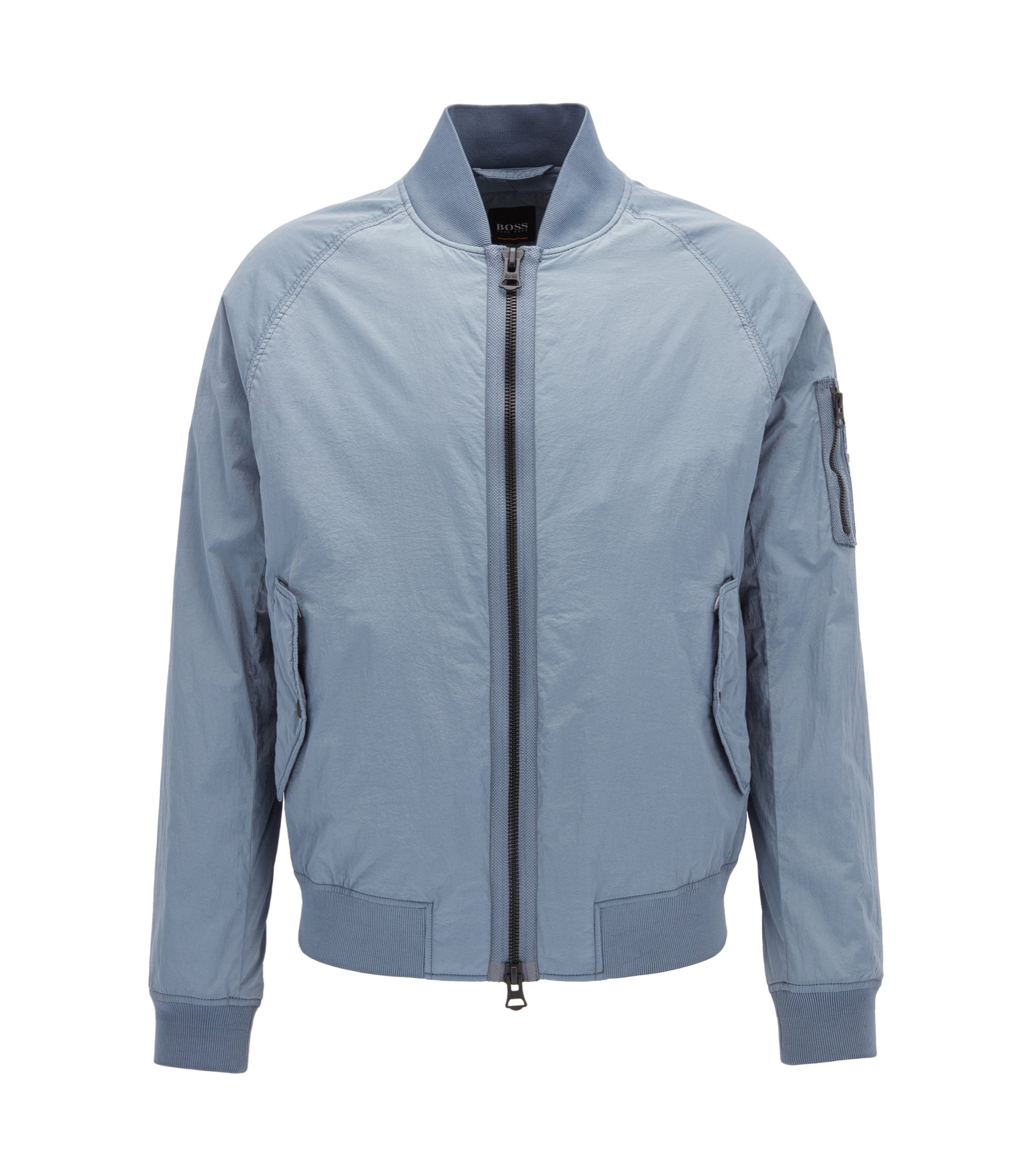 Regular-Fit MA-1 Bomberjacke aus Material-Mix , Hellblau