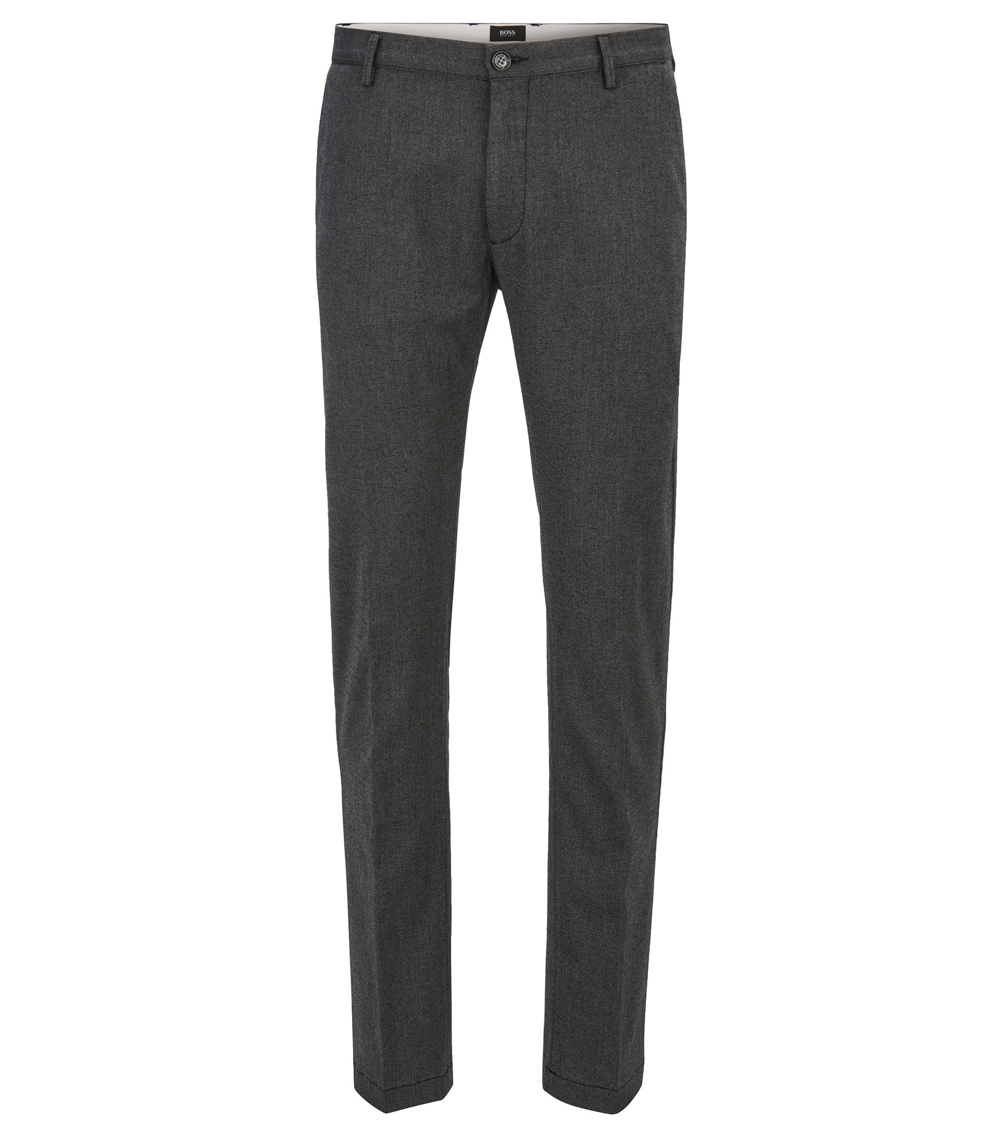 Slim-fit chino van stretch en tweezijdige twill , Grijs
