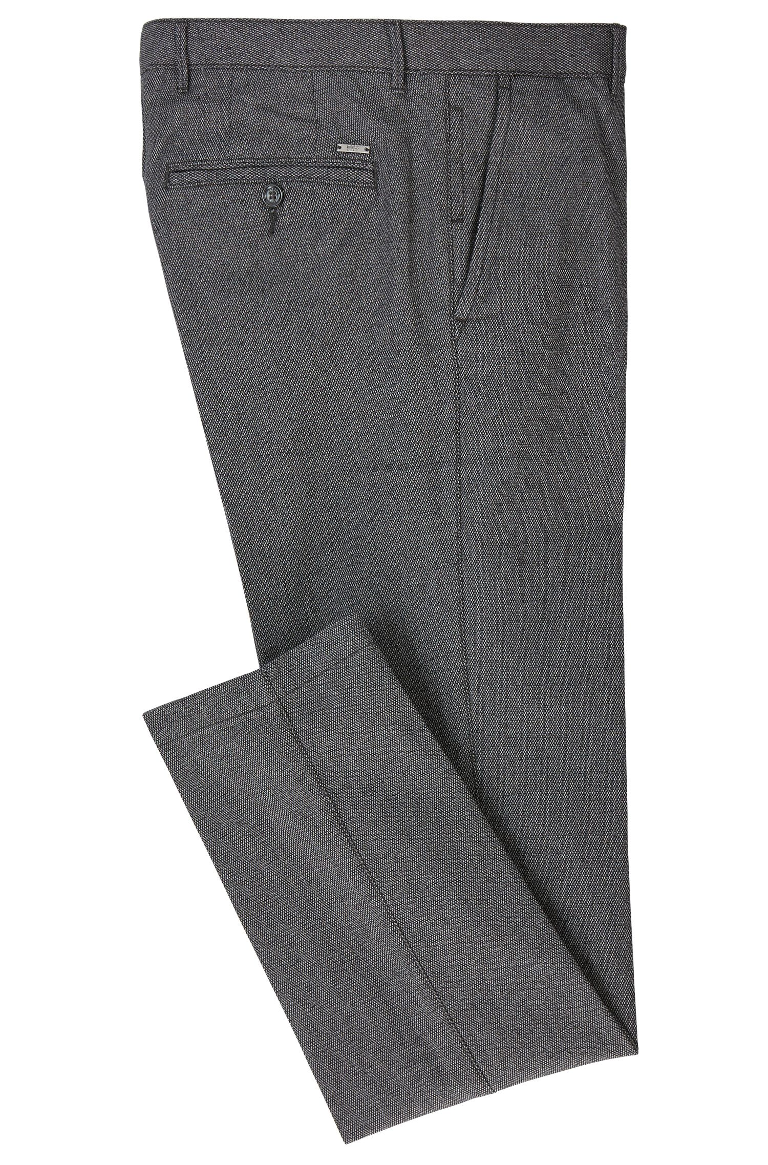Regular-fit chinos in soft mélange cotton BOSS