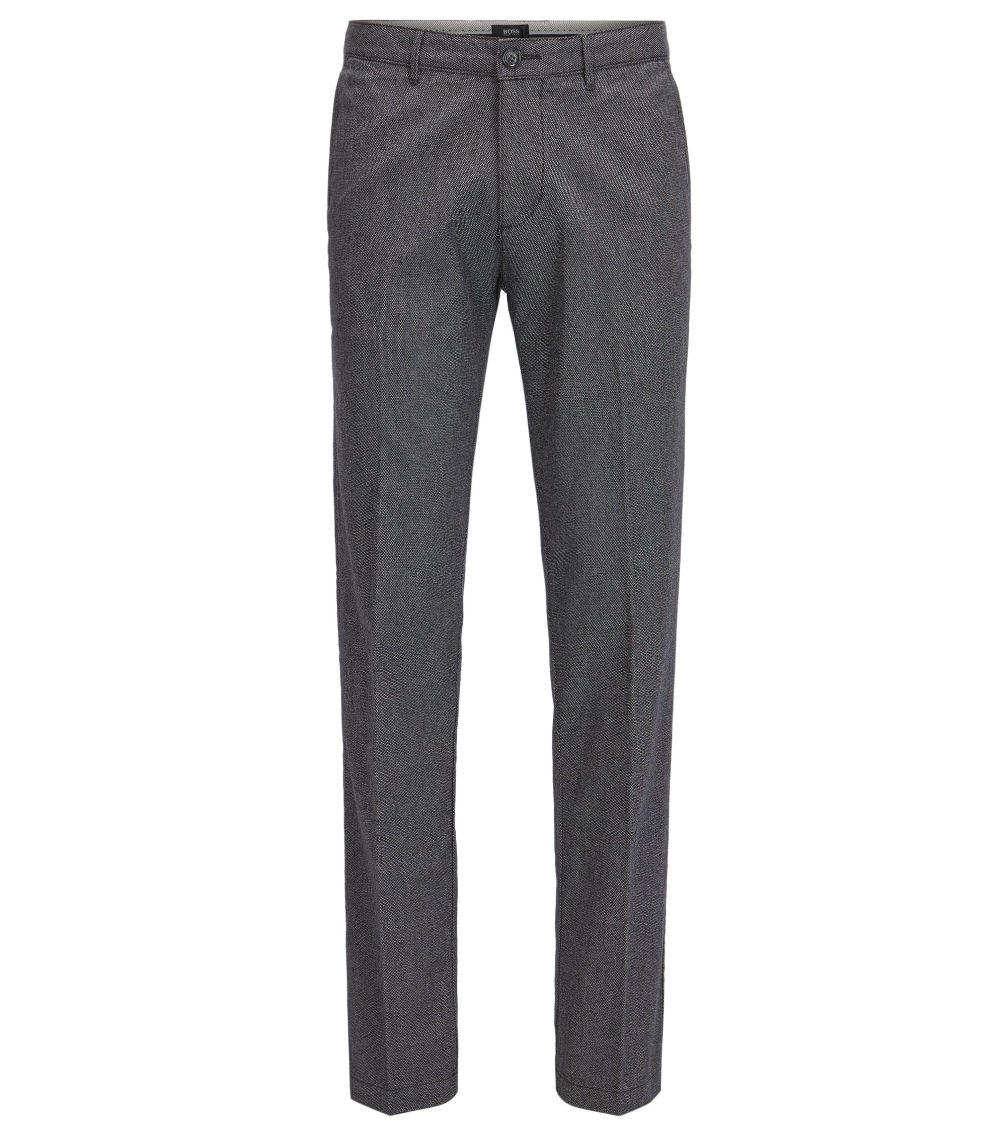 Chino regular fit in morbido cotone mélange , Grigio scuro