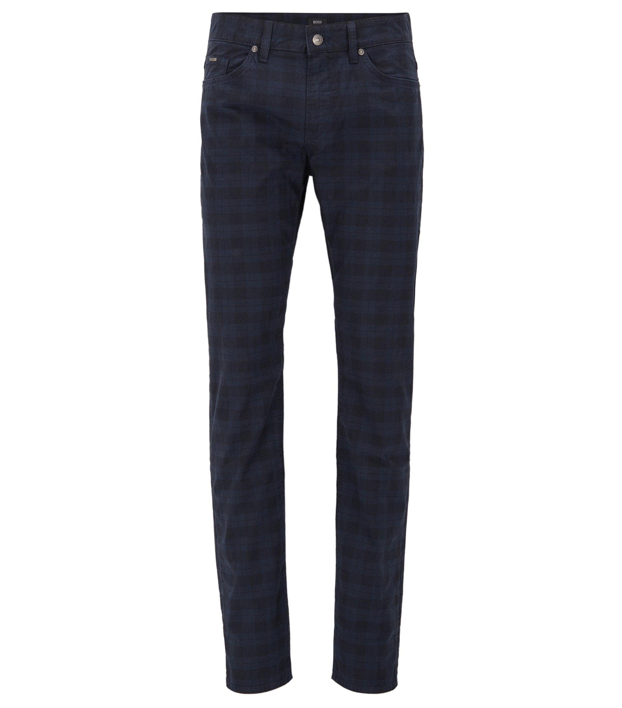 Jean Slim Fit en coton stretch, Bleu foncé