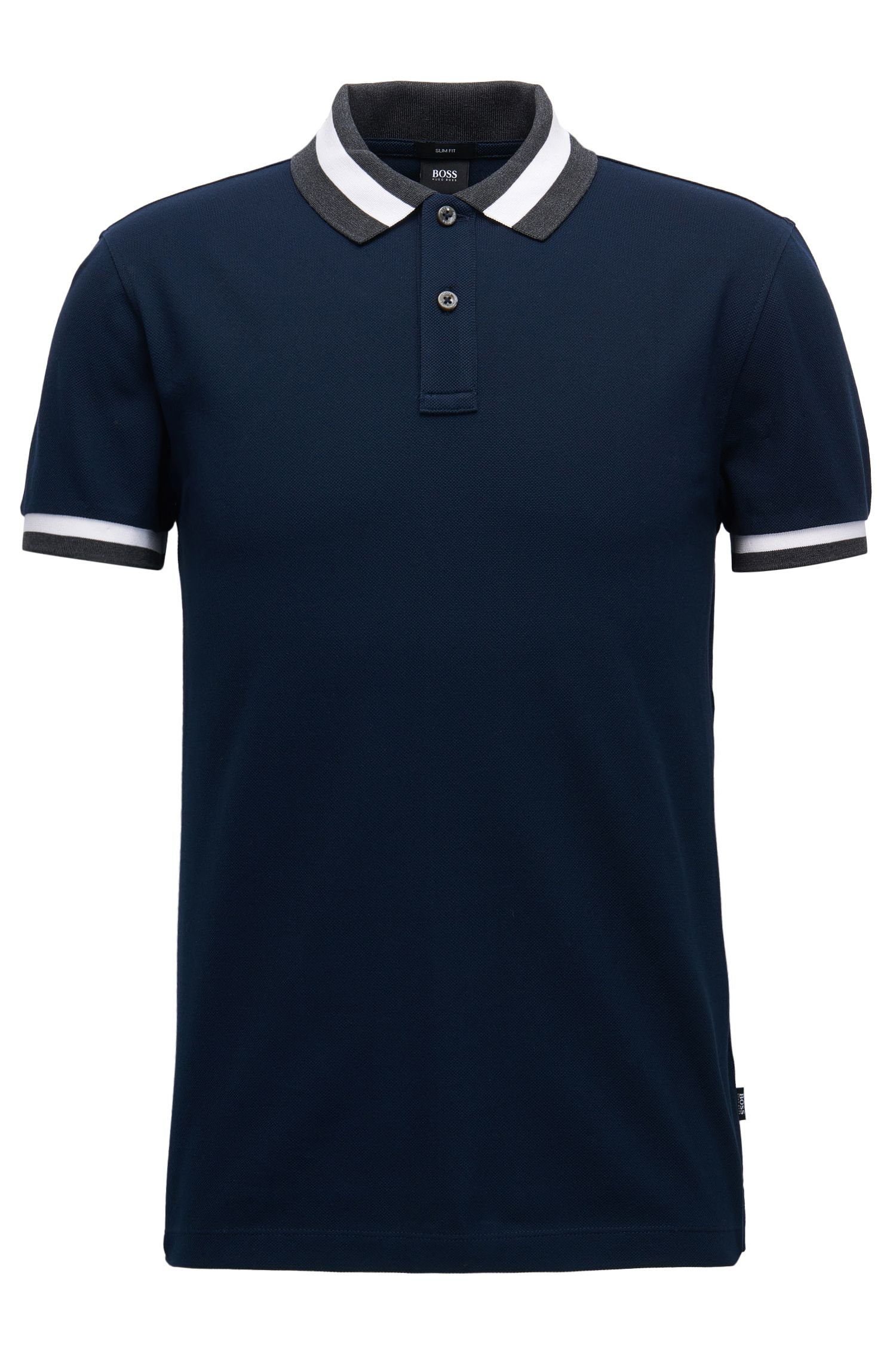 Polo Slim Fit en piqué de coton