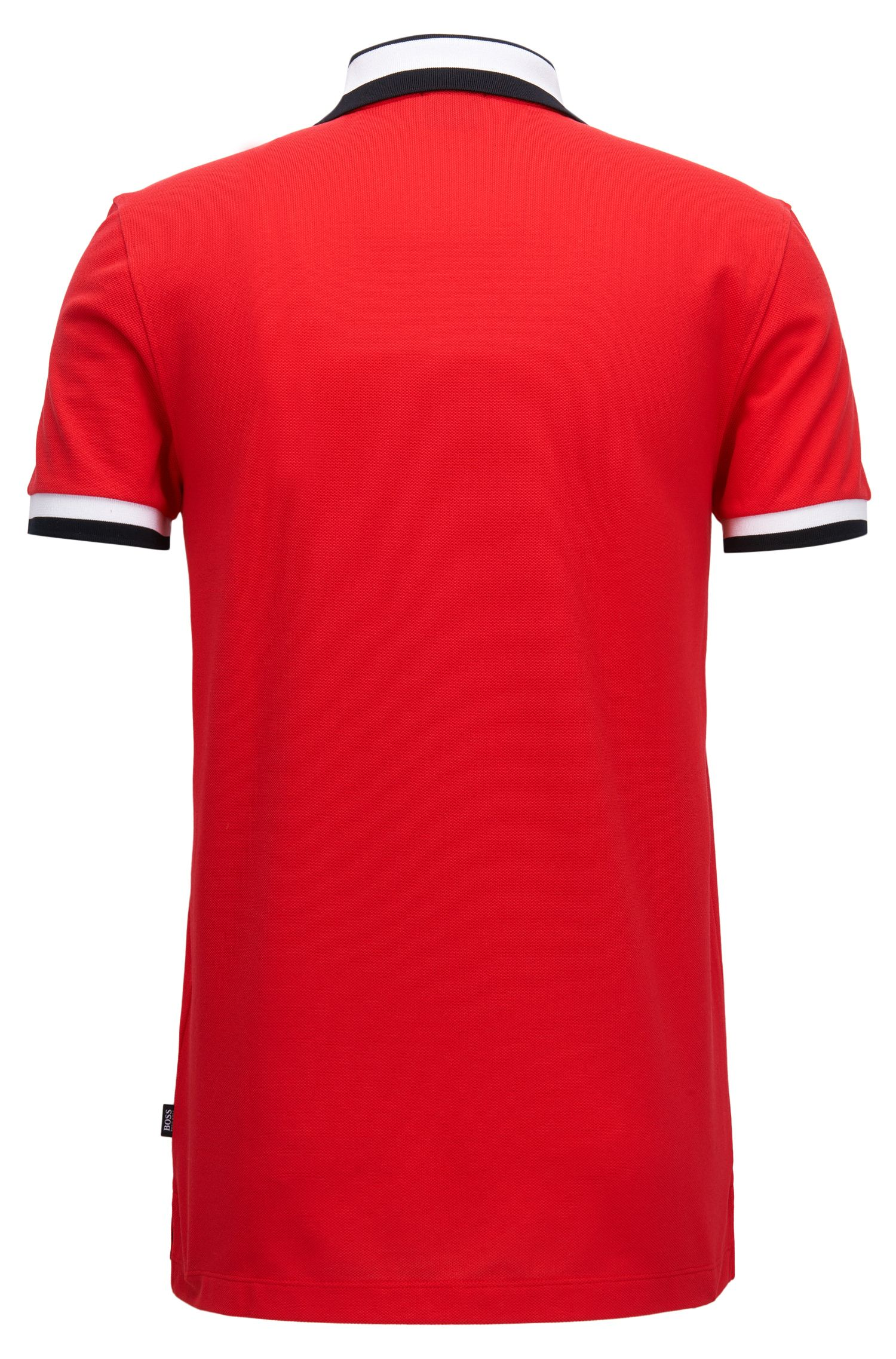 Slim-Fit Poloshirt aus Baumwoll-Piqué