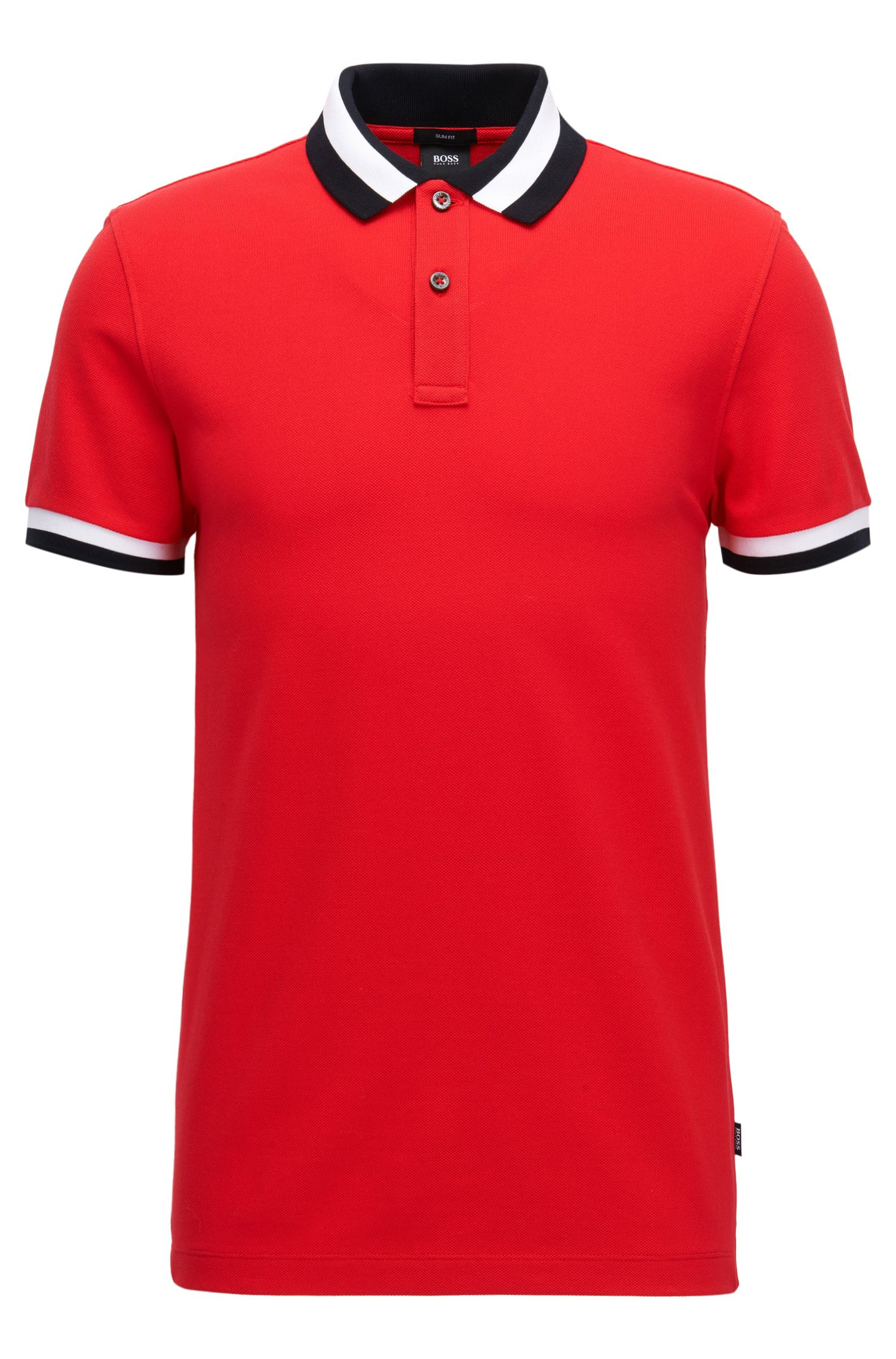 Slim-fit polo shirt in cotton piqué