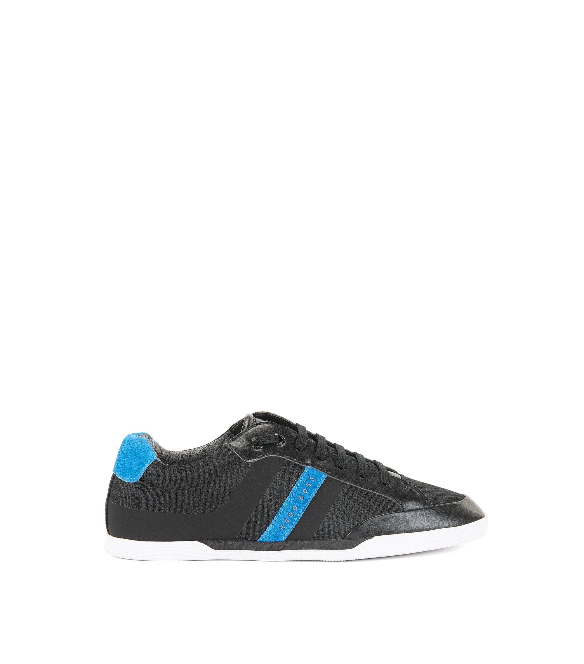 Sneakers in tennisstijl met suède bovenlaag, Zwart
