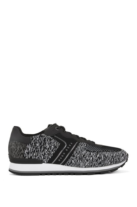 Low-top trainers with knitted uppers BOSS fO3s9U9Z2Z