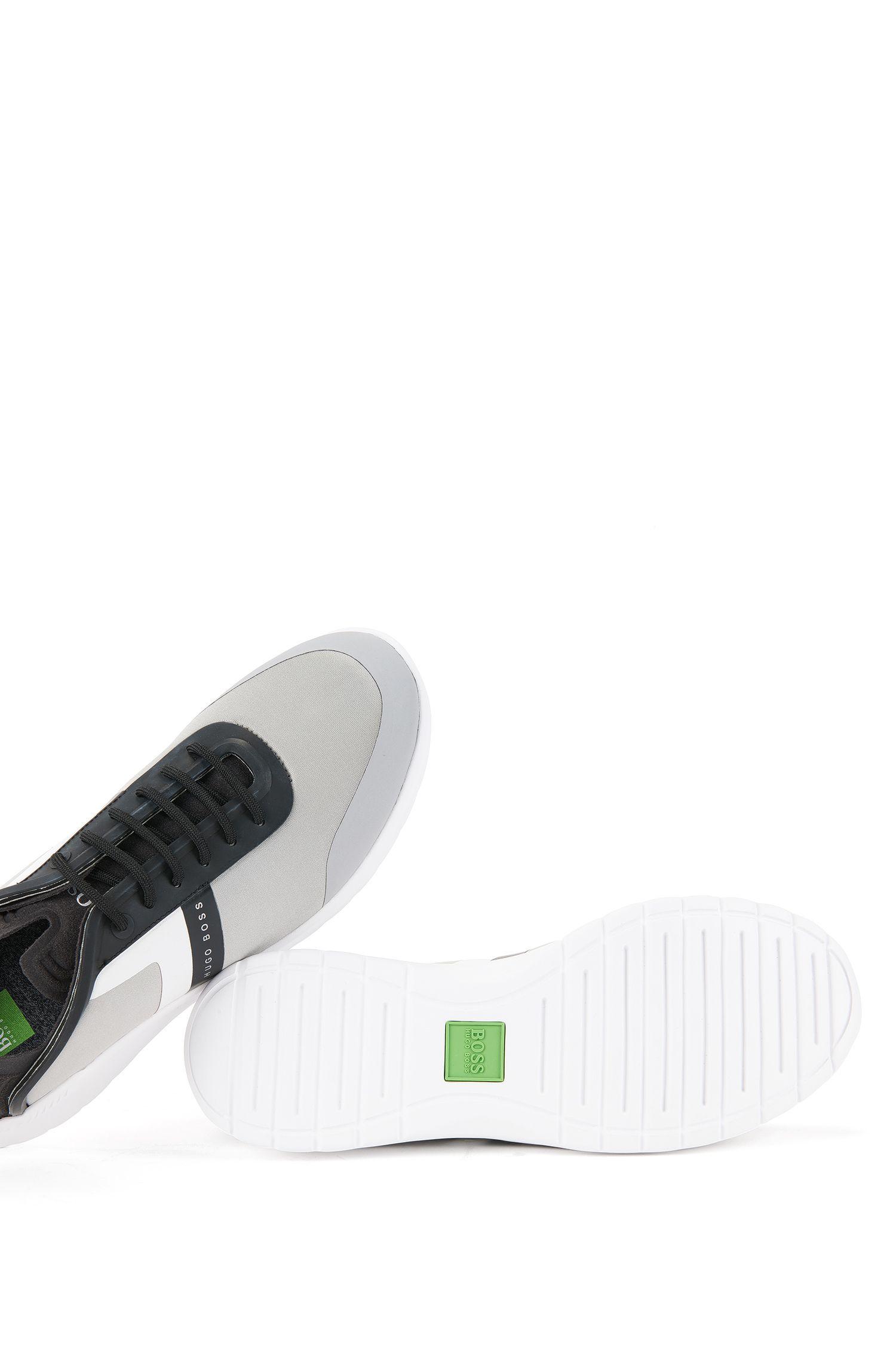 Baskets basses en néoprène et microfibre